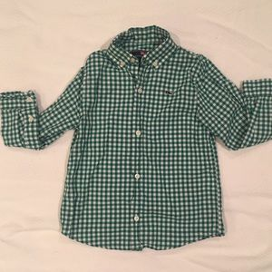 4T Vineyard Vines Green Check Shirt